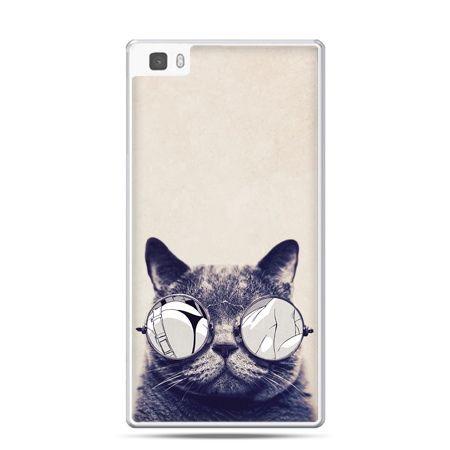 Huawei P8 etui kot w okularach