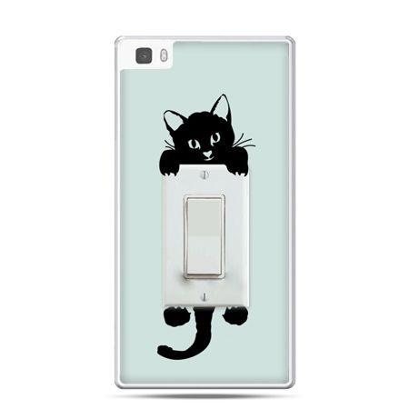 Huawei P8 etui włącznik kotek