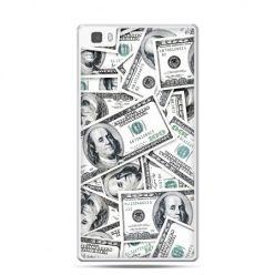 Huawei P8 etui dolary banknoty