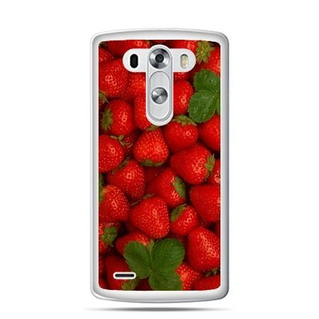 LG G4 etui czerwone truskawki