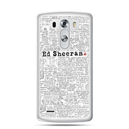LG G4 etui Ed Sheeran białe poziome