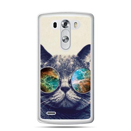LG G4 etui kot w tęczowych okularach