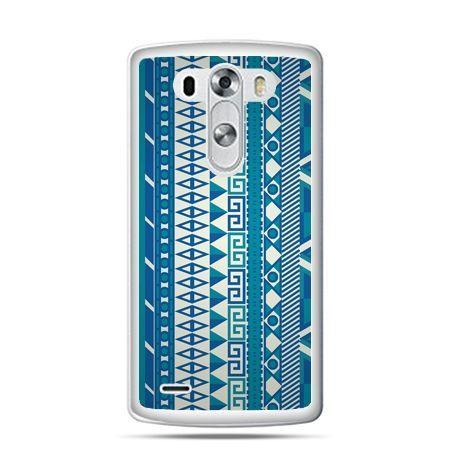 LG G4 etui niebieski wzorek pionowy