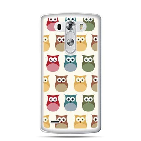 LG G4 etui kolorowe sowy