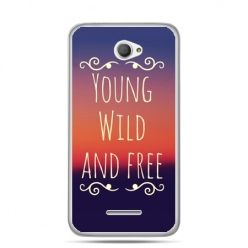 Xperia E4 etui Young wild and free