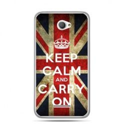 Xperia E4 etui Keep calm and carry on