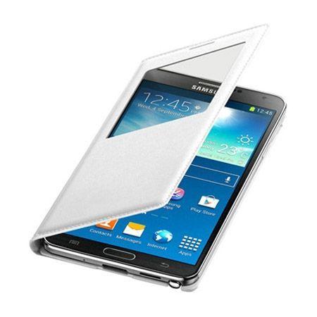 Galaxy Core Prime etui Flip S View z klapką białe.