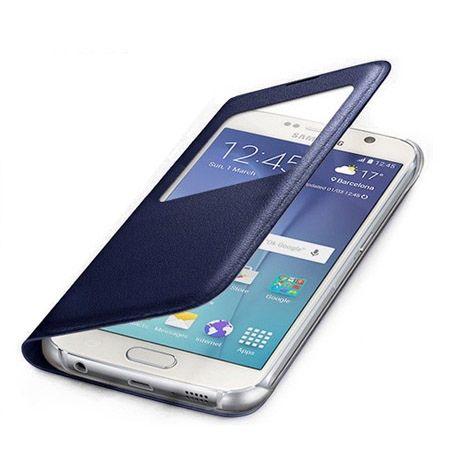 Galaxy Core Prime etui Flip S View z klapką chabrowe.