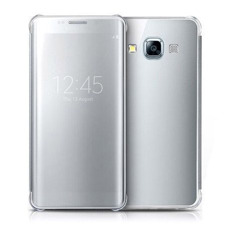 Galaxy A5 etui Flip Clear View srebrne z klapką.