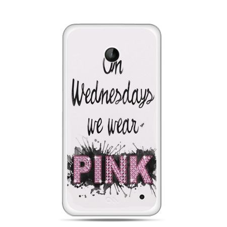 Nokia Lumia 630 etui z napisem pink