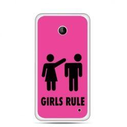 Nokia Lumia 630 etui różowe Girls Rule