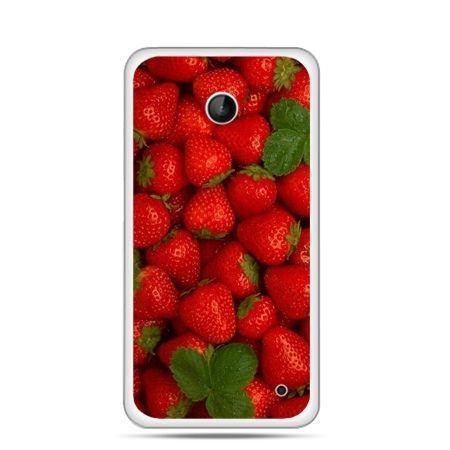 Nokia Lumia 630 etui czerwone truskawki
