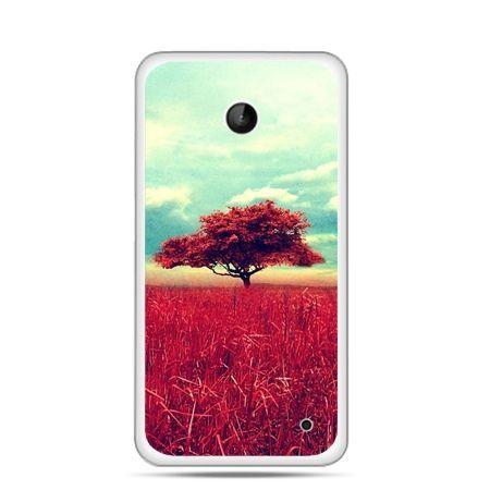 Nokia Lumia 630 etui czerwone drzewo