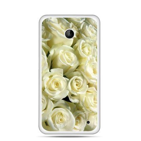 Nokia Lumia 630 etui białe róże