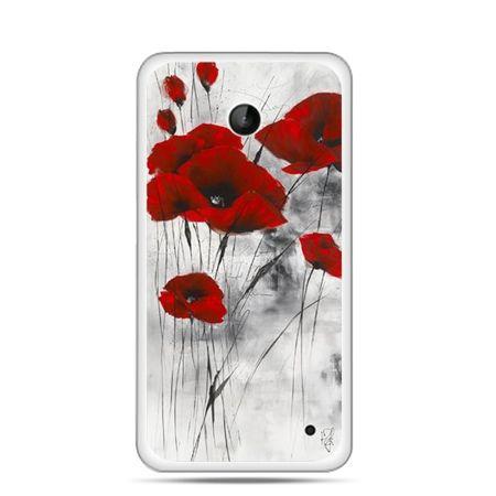 Etui na telefon Nokia Lumia 630 czerwone maki