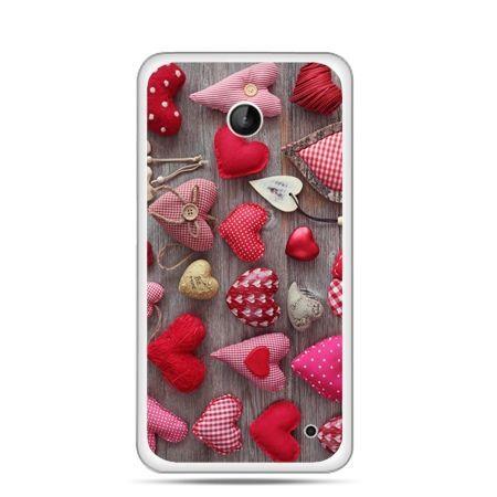 Nokia Lumia 630 etui pluszowe serduszka