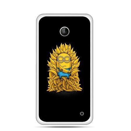 Nokia Lumia 630 etui Minionek na tronie ,minionki