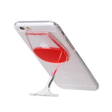 iPhone 4 etui z płynem w środku czerwone wino