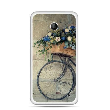 Nokia Lumia 630 etui rower z kwiatami