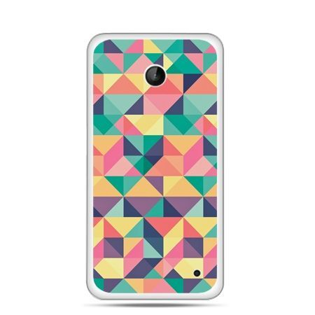 Nokia Lumia 630 etui kolorowe trójkąty