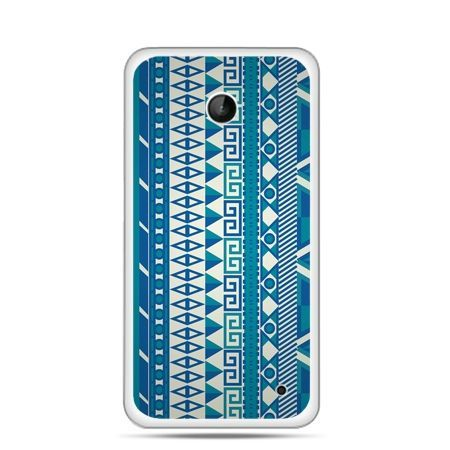 Nokia Lumia 630 etui niebieski wzorek pionowy