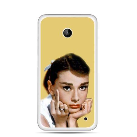 Nokia Lumia 630 etui Audrey Hepburn Fuck You