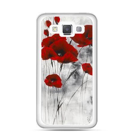 Etui na telefon Galaxy A5 Czerwone maki