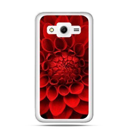 Etui na Galaxy Core 2 Czerwona Dalia , kwiat.