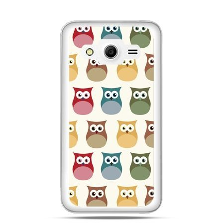 Etui na Galaxy Core 2 Kolorowe sowy