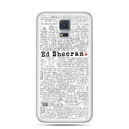 Samsung Galaxy S5 mini Ed Sheeran białe poziome