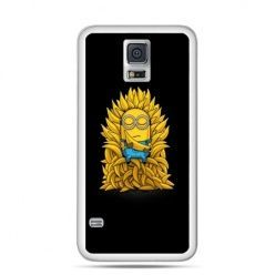 Etui na Samsung Galaxy S5 mini Minionek na tronie ,minionki