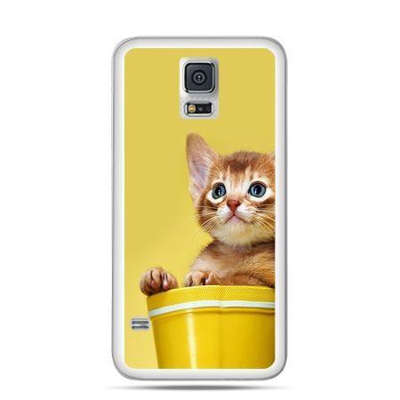 Etui na Samsung Galaxy S5 mini Kot w doniczce