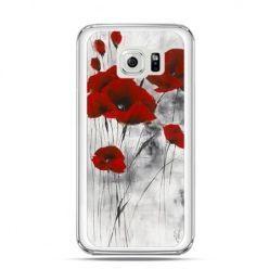 Etui na telefon Galaxy S6 Czerwone maki