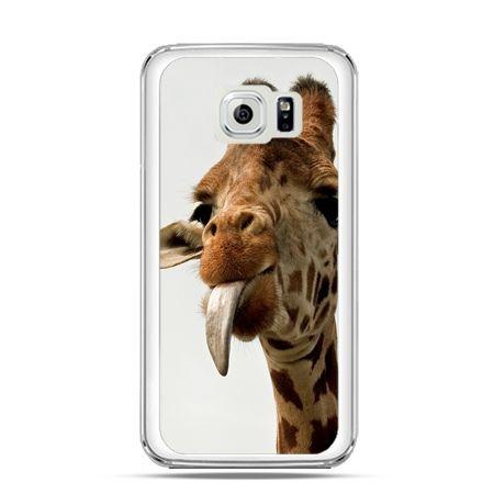 Etui na Galaxy S6 Edge żyrafa z językiem