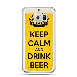 Etui na Galaxy S6 Edge Keep calm and drink beer