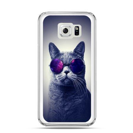 Etui na Galaxy S6 Edge Kot hipster w okularach