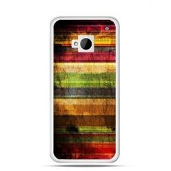 Etui na HTC One M7 Kolorowe deski