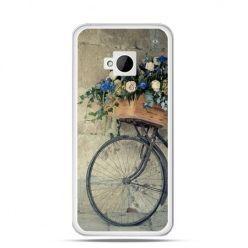 Etui na HTC One M7 Rower z kwiatami