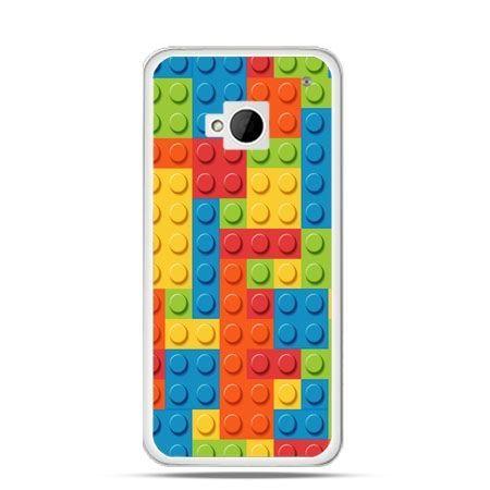 Etui na HTC One M7 kolorowe klocki