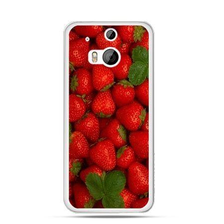 Etui na HTC One M8 Czerwone truskawki