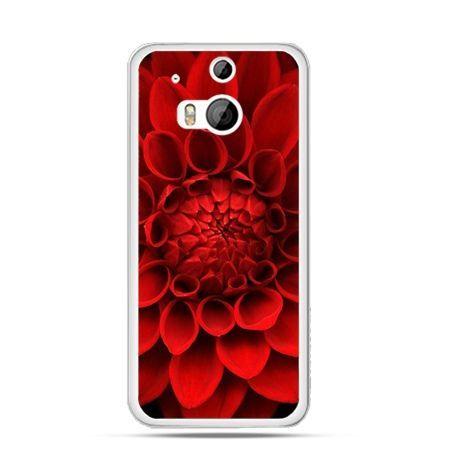 Etui na HTC One M8 Czerwona dalia
