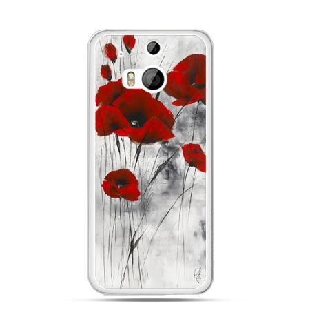 Etui na HTC One M8 Czerwone maki