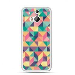 Etui na HTC One M8 Kolorowe trójkąty