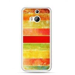 Etui na HTC One M8 Kolorowe pasy