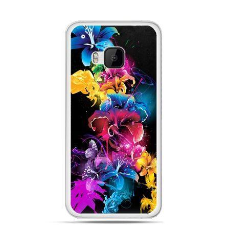Etui na HTC One M9 Kolorowe kwiaty