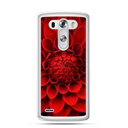 Etui na LG G3 Czerwona dalia