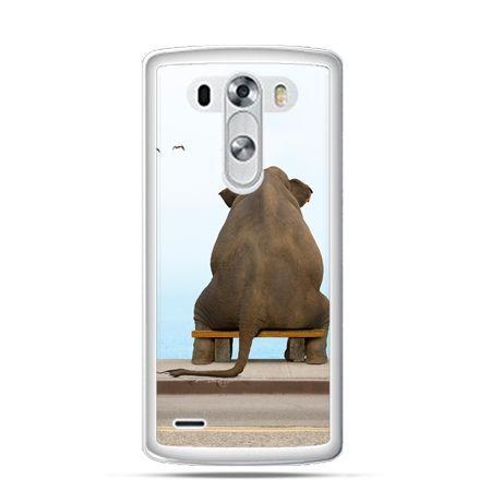 Etui na LG G3 Zamyślony słoń