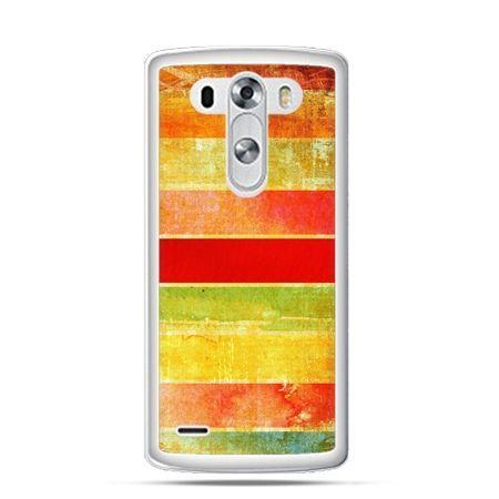 Etui na LG G3 Kolorowe pasy