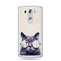 Etui na LG G3 Kot w okularach