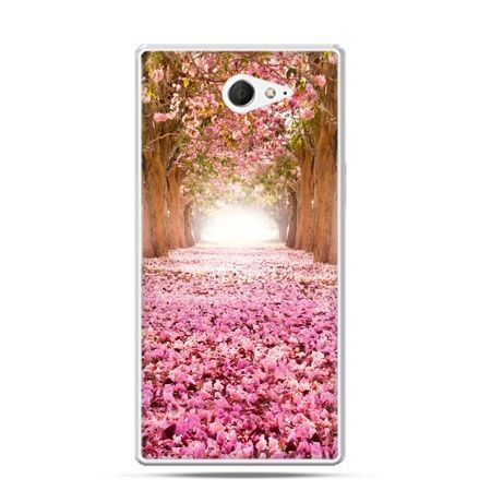 Sony Xperia M2 etui różowy park